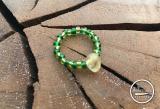 Citrin-Glasperlen Ring grün