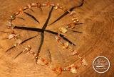 Citrin-Glasperlen Kette rot