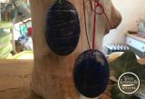 Lapislazuli-Kettenanhänger oval ca.30-40 g