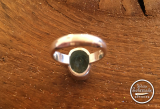 Aquamarin-Ring oval